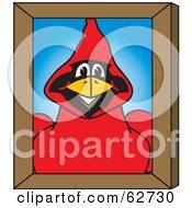 Red Cardinal Character School Mascot Portrait