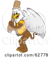 Royalty Free RF Clipart Illustration Of A Griffin Character School Mascot Batting