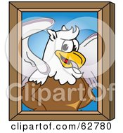 Royalty Free RF Clipart Illustration Of A Griffin Character School Mascot Portrait