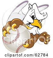 Royalty Free RF Clipart Illustration Of A Griffin Character School Mascot Grabbing A Baseball