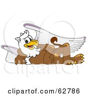 Royalty Free RF Clipart Illustration Of A Griffin Character School Mascot Reclined