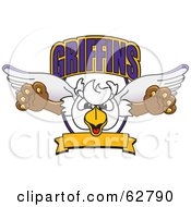 Royalty Free RF Clipart Illustration Of A Griffins Character School Mascot Logo