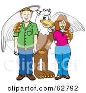 Royalty Free RF Clipart Illustration Of A Griffin Character School Mascot With Teachers Or Parents