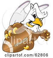 Royalty Free RF Clipart Illustration Of A Griffin Character School Mascot Grabbing A Football