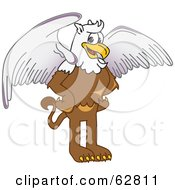 Royalty Free RF Clipart Illustration Of A Griffin Character School Mascot
