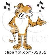 Tiger Character School Mascot Singing