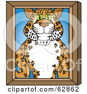 Cheetah Jaguar Or Leopard Character School Mascot Portrait
