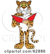 Cheetah Jaguar Or Leopard Character School Mascot Reading