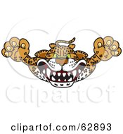 Cheetah, Jaguar or Leopard Character School Mascot Lurching Forward
