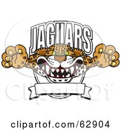 Royalty Free RF Clipart Illustration Of A Jaguars Character School Mascot Logo by Toons4Biz #COLLC62904-0015