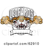 Royalty Free RF Clipart Illustration Of A Leopards Character School Mascot Logo by Toons4Biz