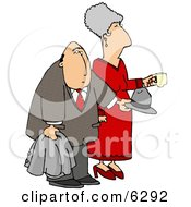 Elderly Couple At A Party Clipart Picture