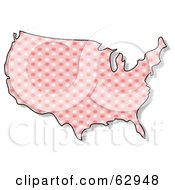 Royalty Free RF Clipart Illustration Of A Pink Floral USA Map