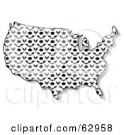 Royalty Free RF Clipart Illustration Of A Soccer Ball USA Map by djart