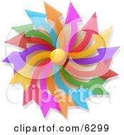 Colorful Pinwheel Clipart Picture by djart