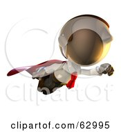 Royalty Free RF Clipart Illustration Of A Super Hero Pete Man Character Flying