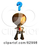Royalty Free RF Clipart Illustration Of A Pete Man Character Pondering by AtStockIllustration