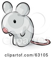 Royalty Free RF Clipart Illustration Of An Animal Factor Gray Mouse