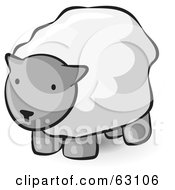 Royalty Free RF Clipart Illustration Of An Animal Factor Wooly Sheep