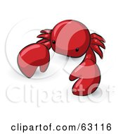 Royalty Free RF Clipart Illustration Of An Animal Factor Red Crab by Leo Blanchette