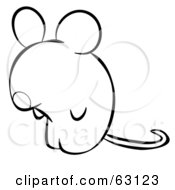 Black And White Human Factor Mouse