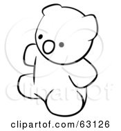 Black And White Human Factor Teddy Bear