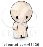 Royalty Free RF Clipart Illustration Of A Nude Human Factor Man Pouting