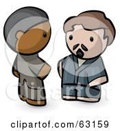 Royalty Free RF Clipart Illustration Of Human Factor Indian And Caucasian Men Talking