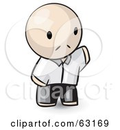 Royalty Free RF Clipart Illustration Of A Human Factor Chinese Man Waving