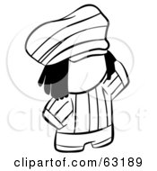 Royalty Free RF Clipart Illustration Of A Black And White Human Factor Rasta Man