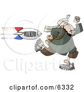 Arab Terrorist Man Running From An American Bomb Titled SPECIAL DELIVERY Clipart Illustration by djart