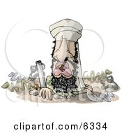 Osama Bin Hidin Clipart Illustration by Dennis Cox