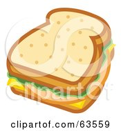Bologna Sandwich With Lettuce And Cheese