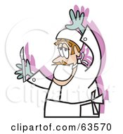 Royalty Free RF Clipart Illustration Of A Male Surgeon Holding A Scalpel by Andy Nortnik