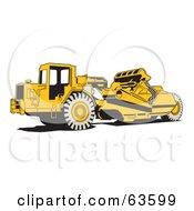 Yellow Wheel Tractor Scraper Machine