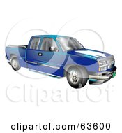 Blue Chevy Silverado Pickup Truck