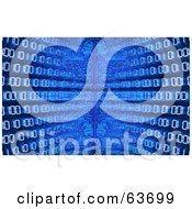 Royalty Free RF Clipart Illustration Of A Blue Diminishing Perspective Binary Code Background