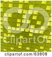 Royalty Free RF Clipart Illustration Of A Green Tile Mosaic Background by elaineitalia