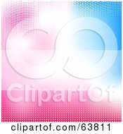 Royalty Free RF Clipart Illustration Of A Shiny Pastel Pink And Blue Background
