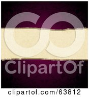 Royalty Free RF Clipart Illustration Of A Dark Purple Floral Background With A Torn Center