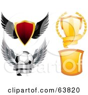 Royalty Free RF Clipart Illustration Of A Digital Collage Of Shields