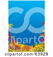 Royalty Free RF Clipart Illustration Of An Underwater Seascape Scene With Blue Water And Colorful Corals