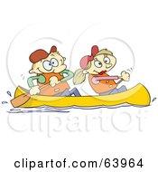 Happy Couple Canoeing
