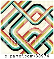 Royalty Free RF Clipart Illustration Of A Background Of Retro Curves On Faint Grid Lines