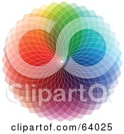 Royalty Free RF Clipart Illustration Of A Colorful Spectrum Circle On White by KJ Pargeter
