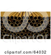 Royalty Free RF Clipart Illustration Of A Straight Angle View Of Copper Pipes