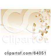 Royalty Free RF Clipart Illustration Of A Background Of Falling Shiny Brown Puzzle Pieces