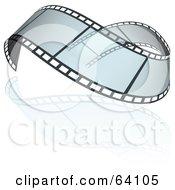 Royalty Free RF Clipart Illustration Of A Wavy Transparent Film Strip by dero
