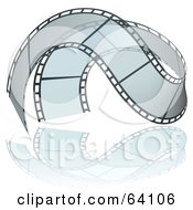 Royalty Free RF Clipart Illustration Of A Waving Transparent Film Strip