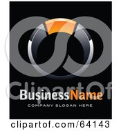 Royalty Free RF Clipart Illustration Of A Pre Made Logo Of A Ring With Orange Above Space For A Business Name And Company Slogan On Black by beboy